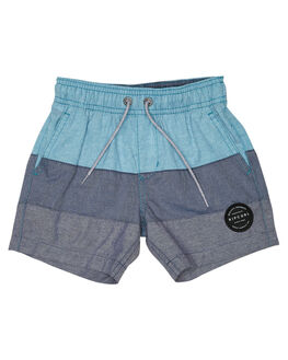 TEAL KIDS BOYS RIP CURL SHORTS - OWAMM14821
