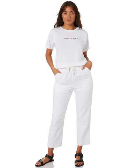WHITE WOMENS CLOTHING NUDE LUCY TEES - NU23873WHT