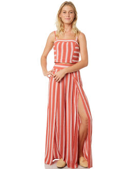 DUSTY CORAL IVORY WOMENS CLOTHING BAND OF GYPSIES FASHION TOPS - WR324730-1535RCOR