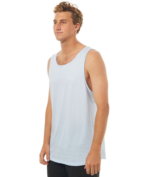 PALE BLUE MENS CLOTHING RPM SINGLETS - 7SMT09BPBLU