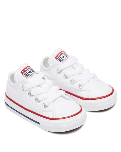 OPTICAL WHITE KIDS BOYS CONVERSE FOOTWEAR - 7J256WHT