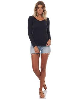ANTHRACITE WOMENS CLOTHING ROXY TEES - ERJZT04015KVJ0
