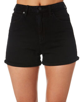 OVERDYED BLACK WOMENS CLOTHING A.BRAND SHORTS - 70058-062