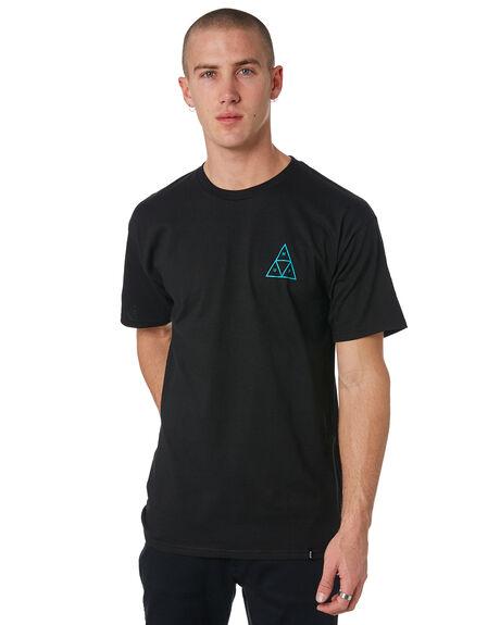 BLACK MENS CLOTHING HUF TEES - TS00370-BLACK