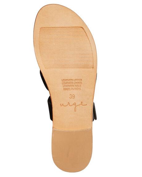 BLACK LEATHER WOMENS FOOTWEAR URGE FASHION SANDALS - URG17060BLK