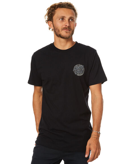 BLACK MENS CLOTHING SANTA CRUZ TEES - SC-MTB7507BLK