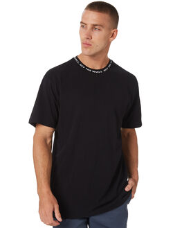 BLACK MENS CLOTHING VANS TEES - VNA3W19BLKBLK