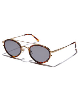 GOLD WIRE DARK TORT MENS ACCESSORIES CRAP SUNGLASSES - RIDDS762GGGWDT
