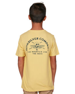 MISTED YELLOW KIDS BOYS QUIKSILVER TOPS - EQBZT04109-YHL0