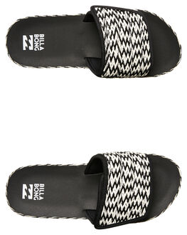 BLACK WOMENS FOOTWEAR BILLABONG SLIDES - 6685802BLK