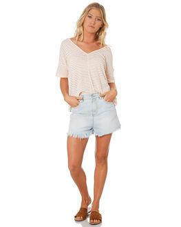 BLOSSOM WOMENS CLOTHING RUSTY TEES - TTL0962BLO