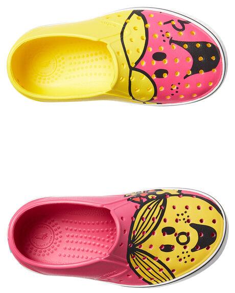 YELLOW PINK KIDS TODDLER GIRLS NATIVE FOOTWEAR - 13104601-8562