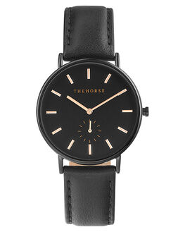 BLACK ROSE GOLD MENS ACCESSORIES THE HORSE WATCHES - AS01-4BKRGD