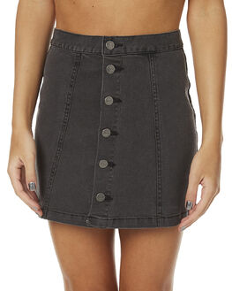 STONE BLACK WOMENS CLOTHING AFENDS SKIRTS - 52-03-049SBLK