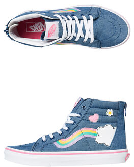 DENIM KIDS GIRLS VANS SNEAKERS - VNA4BUXV3U