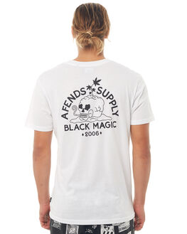 WHITE MENS CLOTHING AFENDS TEES - M181008WHT