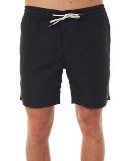 BLACK MENS CLOTHING BARNEY COOLS BOARDSHORTS - 619-MC4BLK