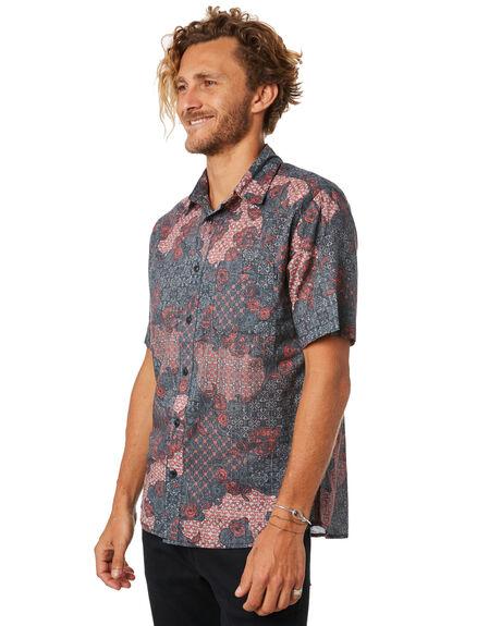 HOT CORAL MENS CLOTHING RUSTY SHIRTS - WSM0825HCL