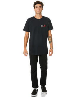 BLACK MENS CLOTHING THE LOBSTER SHANTY TEES - LBSSHRIMPTBLK