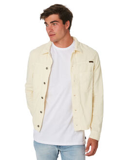 DUSTY WHITE MENS CLOTHING NUDIE JEANS CO JACKETS - 160620W41