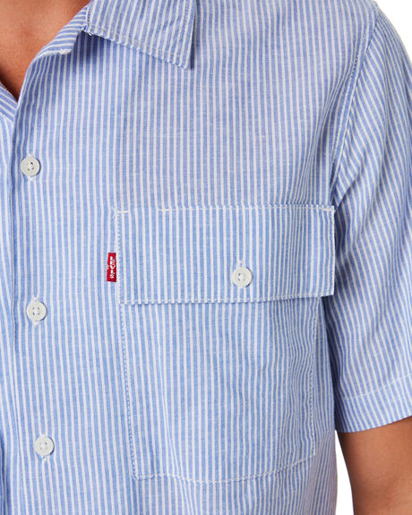 BLUE WHITE STRIPE MENS CLOTHING LEVI'S SHIRTS - 39432-0005BLWTS