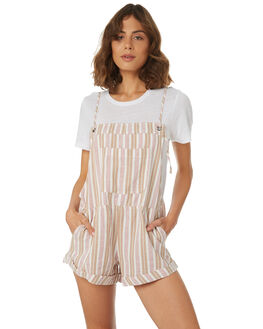 WHITE SWAN WOMENS CLOTHING BILLABONG PLAYSUITS + OVERALLS - 6581513SWAN
