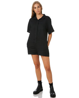 BLACK WOMENS CLOTHING THRILLS PLAYSUITS + OVERALLS - WTS9-900BBLK