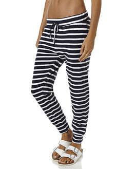 NAVY STRIPE WOMENS CLOTHING SILENT THEORY PANTS - 6070063NVY