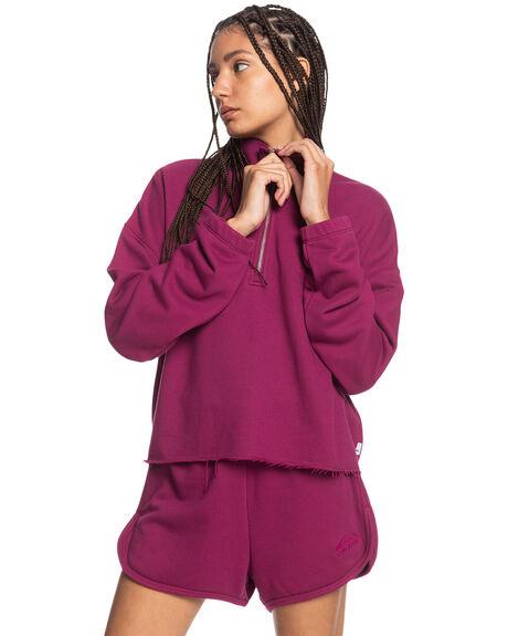 RASPBERRY RADIANCE WOMENS CLOTHING QUIKSILVER HOODIES + SWEATS - EQWFT03036-MQY0