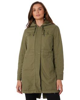 FATIGUE GREEN WOMENS CLOTHING PATAGONIA JACKETS - 28291FTGN