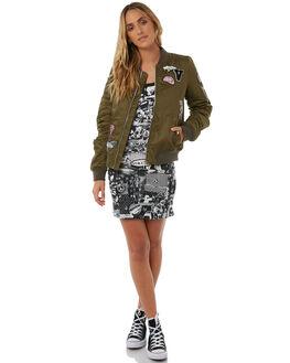 DARK CAMO WOMENS CLOTHING VOLCOM JACKETS - B1511804DCA