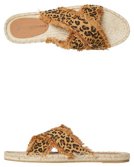LEOPARD WOMENS FOOTWEAR BETTY BASICS SLIDES - BB922T19LEO