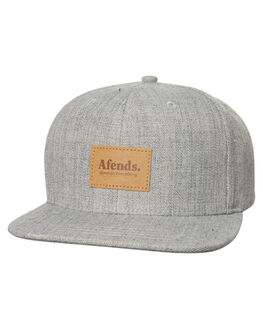 GREY MARLE MENS ACCESSORIES AFENDS HEADWEAR - A181602GRY