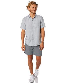 NAVY WHITE MENS CLOTHING ACADEMY BRAND BOARDSHORTS - 19S721NVSH