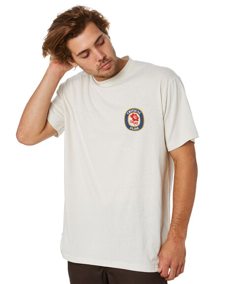 DIRTY WHITE MENS CLOTHING THE CRITICAL SLIDE SOCIETY TEES - TE18280DTWHT