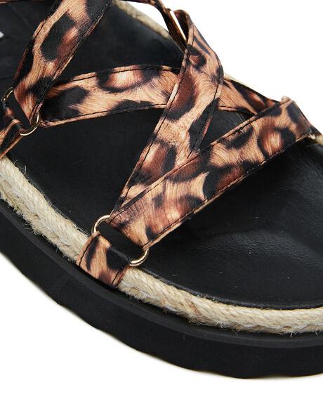 LEOPARD SATIN WOMENS FOOTWEAR CAVERLEY FASHION SANDALS - 202S120SLEOP