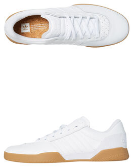 WHITE GUM MENS FOOTWEAR ADIDAS SKATE SHOES - B22729WHGUM