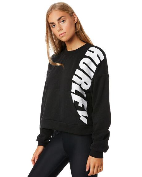 BLACK WOMENS CLOTHING HURLEY JUMPERS - CJ8737010