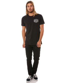 BLACK MENS CLOTHING DEUS EX MACHINA TEES - DMW41808RBLK