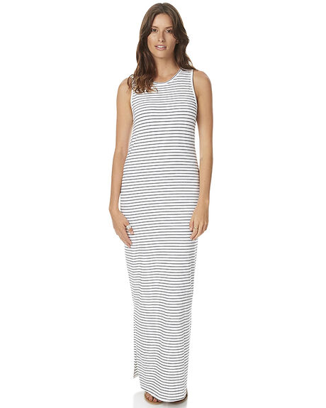 WHITE BLACK STRIPE WOMENS CLOTHING SWELL DRESSES - S8161461WBS
