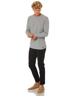BLACK MENS CLOTHING ACADEMY BRAND PANTS - BA100BLK