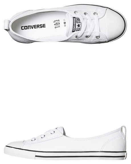 WHITE BLACK WHITE WOMENS FOOTWEAR CONVERSE SNEAKERS - 549617WHI