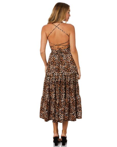 LEOPARD WOMENS CLOTHING TIGERLILY DRESSES - T305445LEO