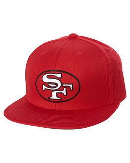 RED MENS ACCESSORIES MITCHELL AND NESS HEADWEAR - MO18668RED