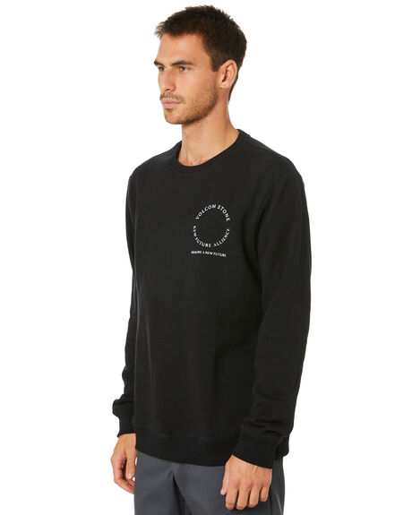 BLACK MENS CLOTHING VOLCOM JUMPERS - A4612002BLK