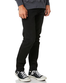 BLACK MENS CLOTHING THRILLS JEANS - TDP-419BBLK