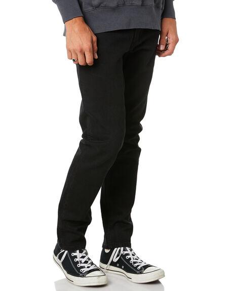 BLACK MENS CLOTHING THRILLS JEANS - TDP-419BBLK