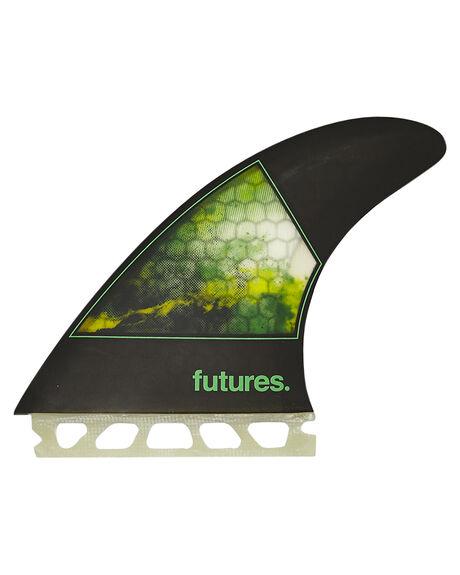 BLACK GREEN SURF HARDWARE FUTURE FINS FINS - JSL-010338BKGN