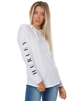 WHITE WOMENS CLOTHING HURLEY TEES - AGTLDOU10A