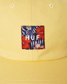 YELLOW MENS ACCESSORIES HUF HEADWEAR - HT00370-YELLW